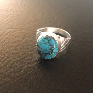 Jewelry - Sterling silver and turquoise ring.